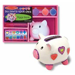 Decorate Your Own Piggy Bank Party Favor