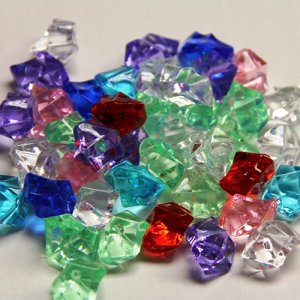Color Acrylic Gem Stones
