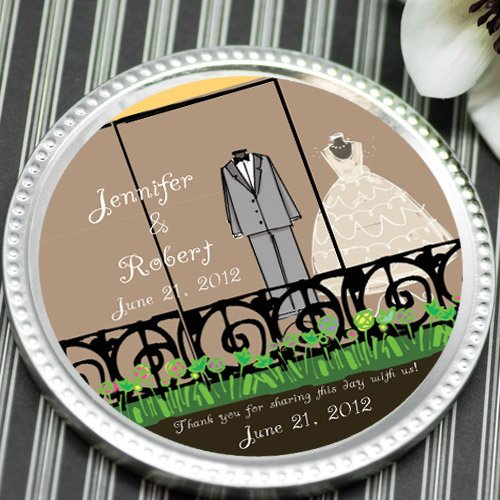 Personalized Wedding Chocolate Disc Favor