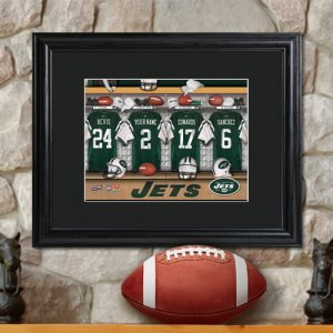 Personalized NFL Locker Room Print