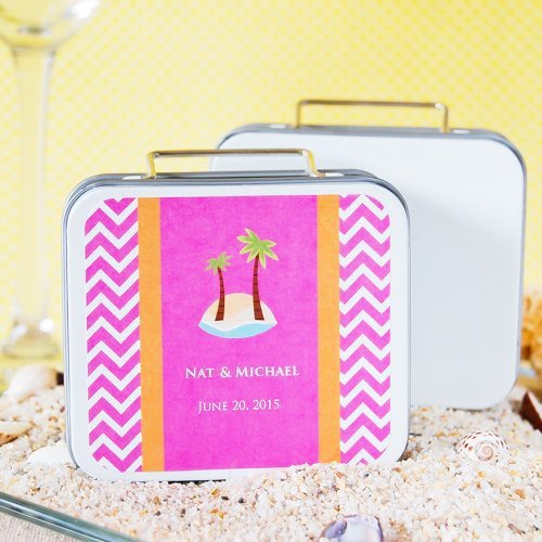 Themed Travel Suitcase Favor Tin