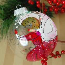 Personalized Hand Painted Angel Glass Ornament