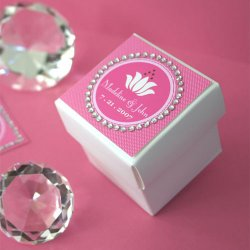 Personalized Round Rhinestone Border Labels