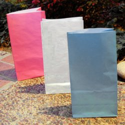 Color Paper Luminary Bags