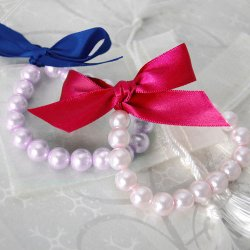 Ribbon Tie Pearl Bracelet