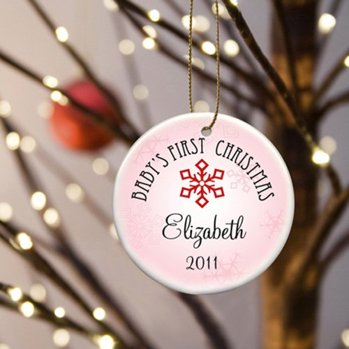 Personalized Babys First Christmas Ornament