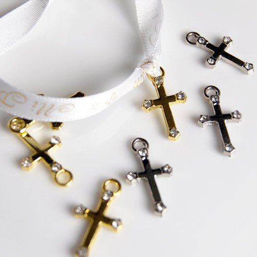 Mini Cross Charms Cross Charms Favors Decorations