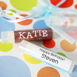 Personalized Lip Balm Birthday Favor