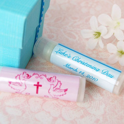 Personalized Lip Balm Baptism Favor
