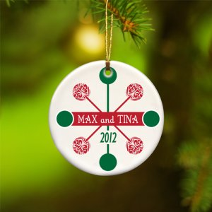 Personalized Contemporary Snowflake Ornament