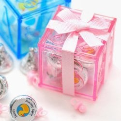 Plastic Baby Block Favor Boxes
