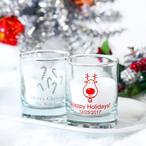 Holiday Shot Glass Votive Holder