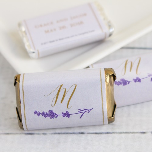 Personalized Lavender Sprig Hershey's Miniatures