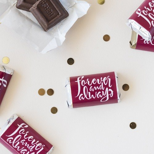 Personalized Forever Always Hershey Miniatures