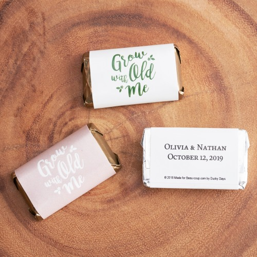 Personalized Wedding Grow Old With Me Hershey's Miniatures