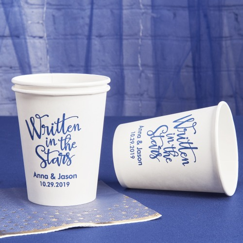Personalized Wedding Paper Cups