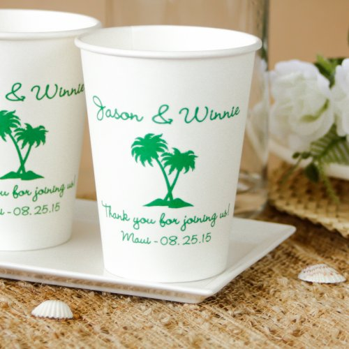 Personalized Wedding Party Paper Cups