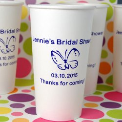 Personalized Bridal Shower Paper Cups