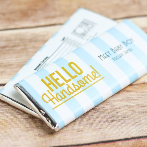 Personalized Hello Handsome Chocolate Bars