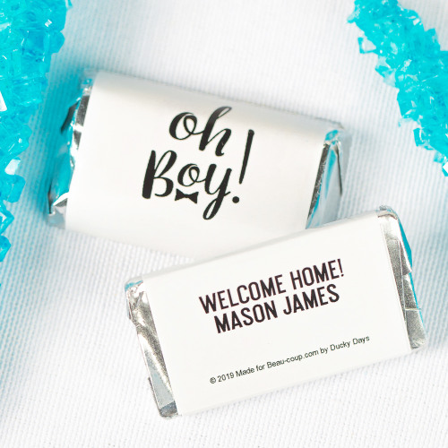 Personalized Oh Boy Baby Shower Hershey's Miniatures