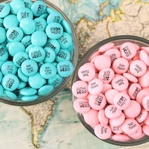 Personalized Welcome to the World Chocolate Candy