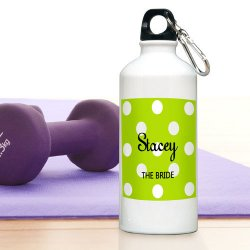 Personalized Polka Dot Water Bottle