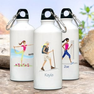 "Personalized ""Go Girl"" Water Bottle"
