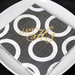 Personalized Pattern Wedding Napkins