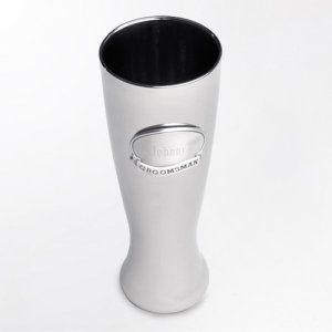 Engraved Gunmetal Pilsner with Pewter Medallion