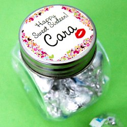 Personalized Birthday Mini Candy Jar Favor
