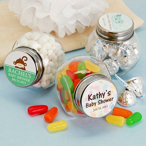 Personalized Baby Shower Mini Candy Favor Jars