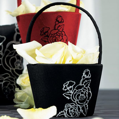 Silhouettes in Bloom Flower Girl Basket