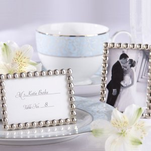 Silver Beads Mini Photo Frame