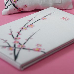 Cherry Blossom Guest Book and Pen Set