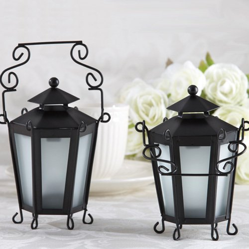 Mini Boutique Black Lantern Tea Light Holders