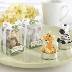 Mini Jungle Animal Baby Shower Candles