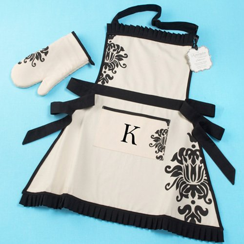 Monogrammed Apron and Oven Mitt Set