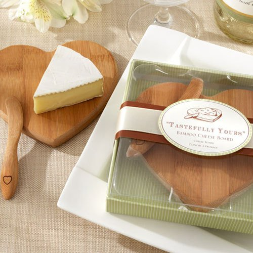 Mini Bamboo Cheese Board and Spreader Set