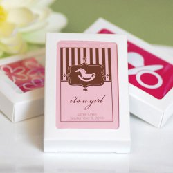 Customized Baby Shower Playing Cards