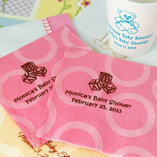 Personalized Pattern Baby Shower Napkins