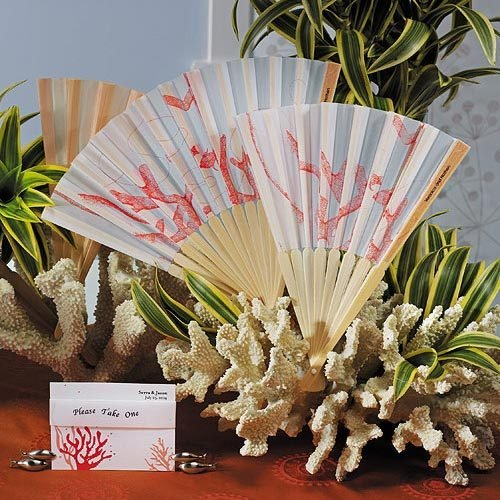 Coral Hand Fans
