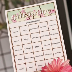 Bridal Gift Bingo Game