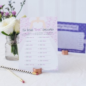 Bridal Shower Word Game