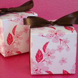 Patterned Square Favor Box