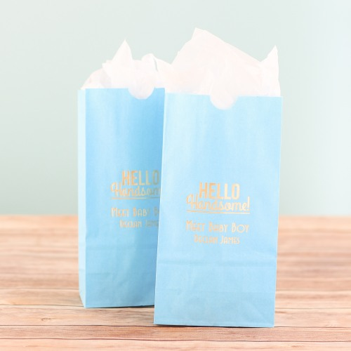 Personalized Hello Handsome Goodie Bag