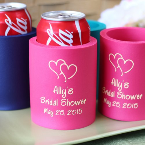 Personalized Bridal Shower Can Sleeves