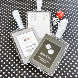 Personalized Birthday Acrylic Luggage Tag Favor