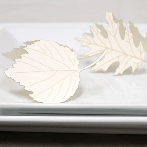 Die-cut Leaf Place Cards