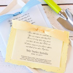 Personalized Baby Shower Plantable Seed Poem Favor