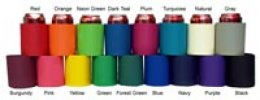 Personalized Birthday Koozies Colors